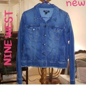 Nine West  Cropped Jean Jacket